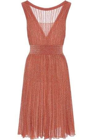 Missoni Metallic-knit dress
