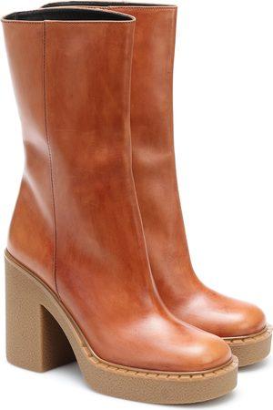 Prada Platform leather ankle boots