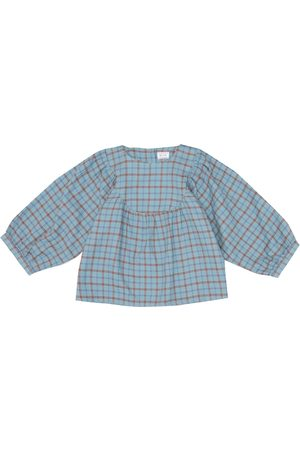 MORLEY Mikado checked cotton blouse
