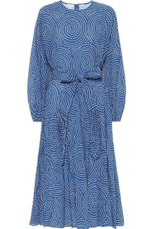 Rhode Devi printed cotton midi dress