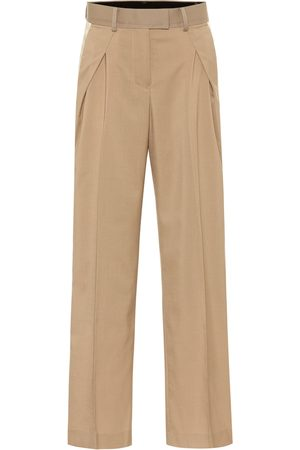 SACAI High-rise wide-leg pants