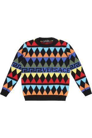 VERSACE Argyle wool sweater