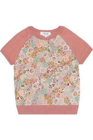 BONPOINT Floral cotton short-sleeve sweater