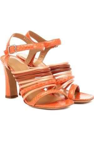 DRIES VAN NOTEN Snakeskin and leather sandals