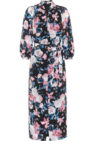 Erdem Finnetta floral silk midi dress