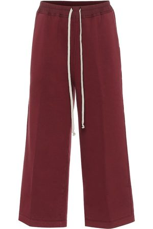 Rick Owens DRKSHDW Felpa cropped cotton trackpants
