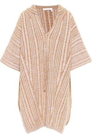 Chloé Wool and mohair-blend hooded poncho