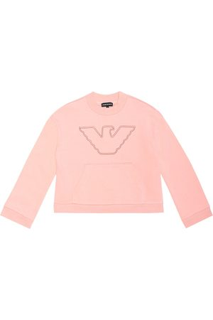 Emporio Armani Logo cotton-blend sweatshirt