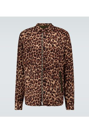 SACAI Leopard Shrivel wool shirt