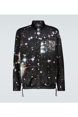 SACAI Star print padded overshirt
