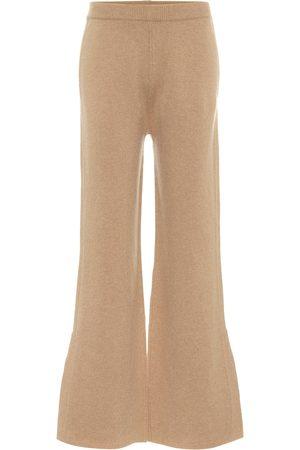 Joseph High-rise wool-blend flared pants