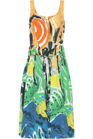Marni Printed cotton midi dress