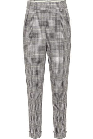 Isabel Marant Ceyo checked high-rise slim pants