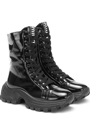 Miu Miu Patent leather combat boots