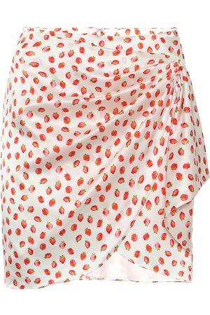 Caroline Constas Koren printed stretch-silk wrap skirt