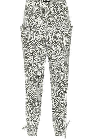 Isabel Marant Badeloisa zebra-print leather pants