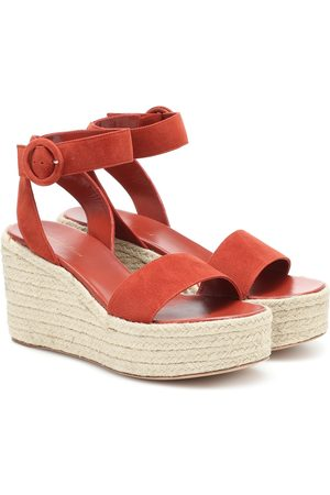 Gianvito Rossi Exclusive to Mytheresa – Billie 45 suede espadrille wedges