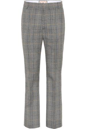Plan C Mid-rise straight wool-blend pants