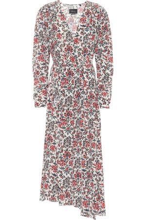 Isabel Marant Blaine floral stretch-silk dress
