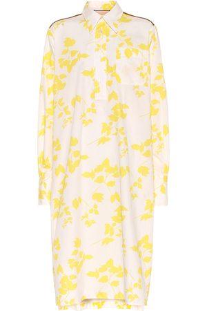 Plan C Floral cotton-blend shirt dress