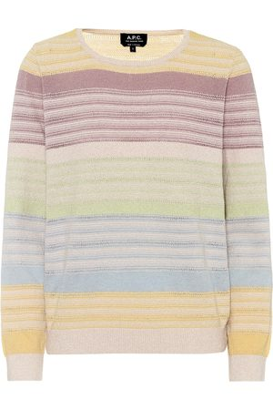 A.P.C Wave striped cotton-blend sweater