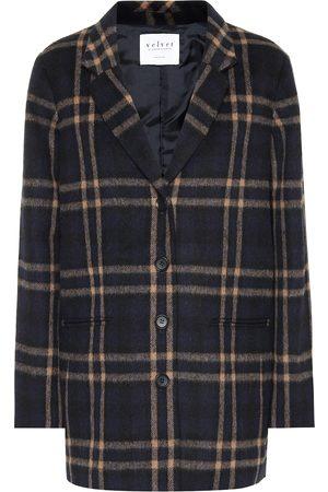 Velvet Jasmann plaid wool-blend coat