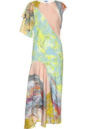 MUGLER Printed midi dress