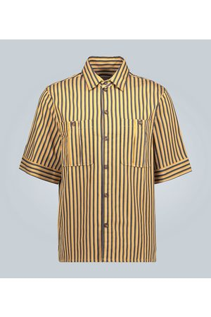 King and Tuckfield Striped short-sleeved shirt