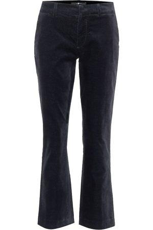 7 for all Mankind Mid-rise velvet bootcut jeans