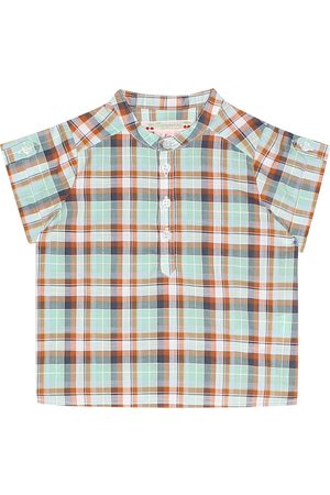 BONPOINT Baby Emilio checked cotton top