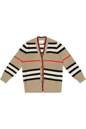 Burberry Jente Cardigans - Icon stripe wool and cashmere cardigan
