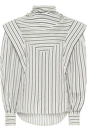 Isabel Marant Bianca striped silk-twill blouse