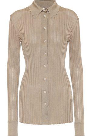 Bottega Veneta Ribbed-knit silk shirt