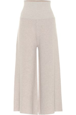 Stella McCartney Ribbed wool and alpaca wide-leg pants