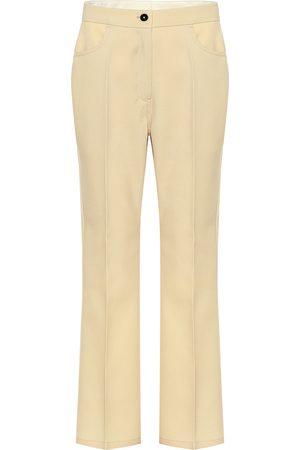 Jil Sander High-rise straight wool pants