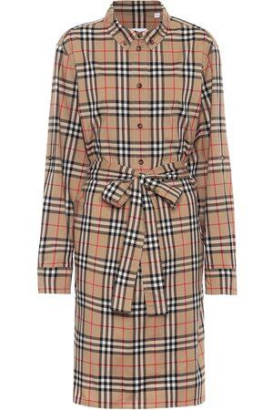 Burberry Vintage Check stretch-cotton shirt dress
