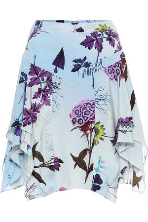 Stella McCartney Floral silk miniskirt