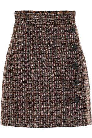Dolce & Gabbana Tweed wool and alpaca-blend miniskirt