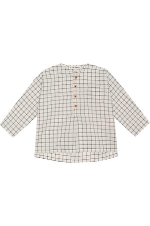 Caramel Baby Pimlico checked cotton shirt