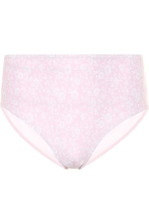 Ganni Floral high-rise bikini bottoms