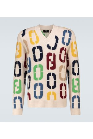 Fendi Intarsia knitted wool sweater