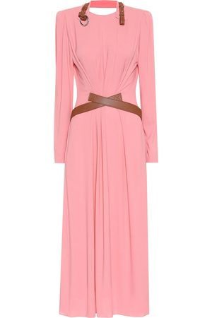 Stella McCartney Faux leather-trimmed maxi dress