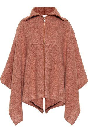 Chloé Ribbed cotton-blend cape