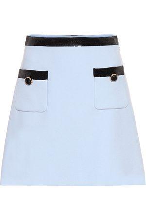 Miu Miu Sequined cady miniskirt