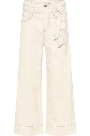 Loro Piana Lenny high-rise wide-leg cropped jeans