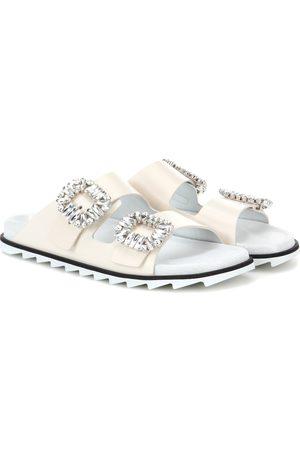 Roger Vivier Slidy Viv' leather slip-on sandals