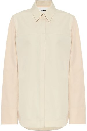 Jil Sander Cotton-and-silk poplin shirt