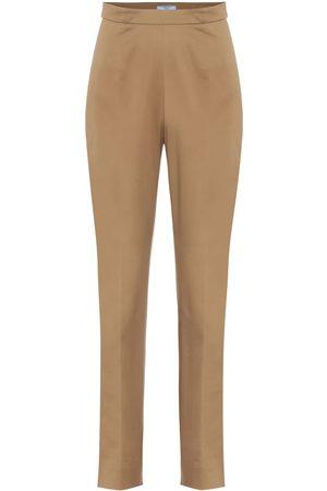 Prada Stretch-cotton skinny pants