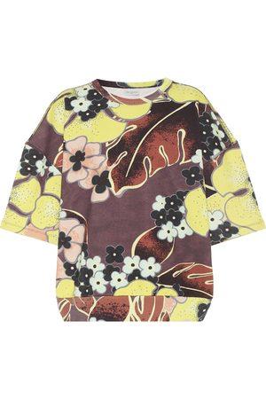 DRIES VAN NOTEN Floral cotton T-shirt