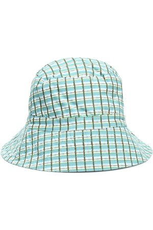 Caramel Baby Wembley checked cotton hat